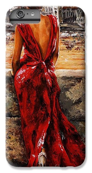 Impressionism iPhone 6 Plus Case - Lady In Red  34 -  I Love Budapest by Emerico Imre Toth