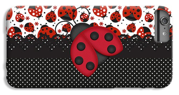 Ladybug Mood  IPhone 6 Plus Case by Debra  Miller