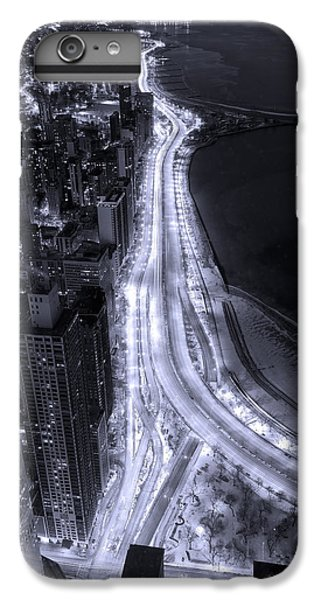 Lake Shore Drive Aerial  B And  W IPhone 6 Plus Case by Steve Gadomski
