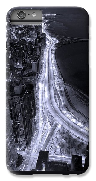 Building iPhone 6 Plus Case - Lake Shore Drive Aerial  B And  W by Steve Gadomski