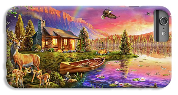 IPhone 6 Plus Case featuring the drawing Lakeside Cabin  by Adrian Chesterman