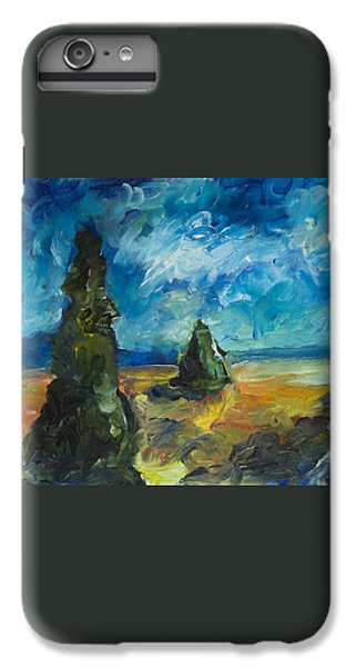 IPhone 6 Plus Case featuring the painting Emerald Spires by Yulia Kazansky