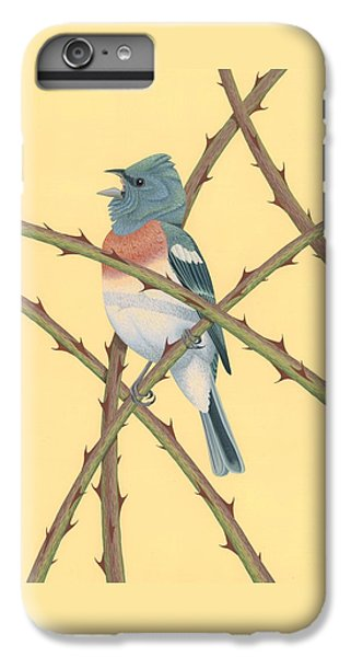 Lazuli Bunting IPhone 6 Plus Case by Nathan Marcy