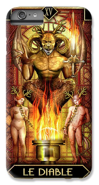 IPhone 6 Plus Case featuring the drawing Le Diable by Ciro Marchetti