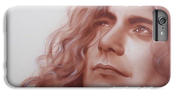 Rock Music Jimmy Page iPhone 6 Plus Case - Leaves Are Falling All Around by Christian Chapman Art