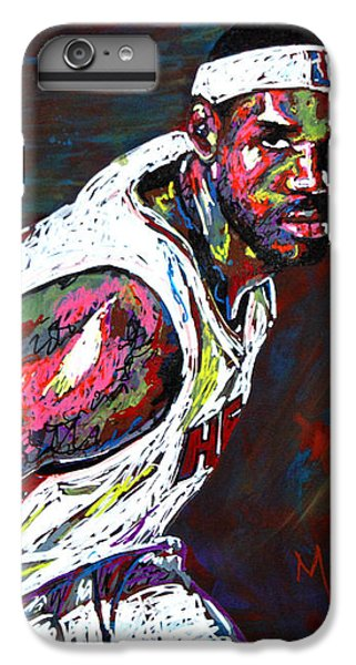 Lebron James 2 IPhone 6 Plus Case by Maria Arango