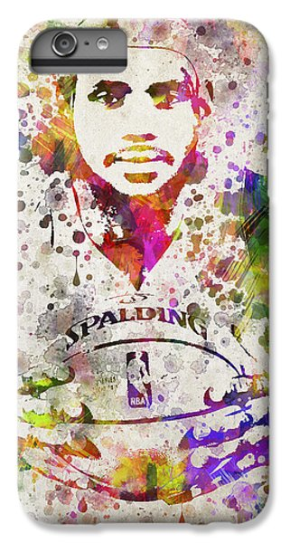 Lebron James In Color IPhone 6 Plus Case by Aged Pixel