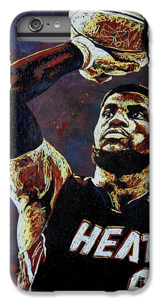 Lebron James Mvp IPhone 6 Plus Case by Maria Arango