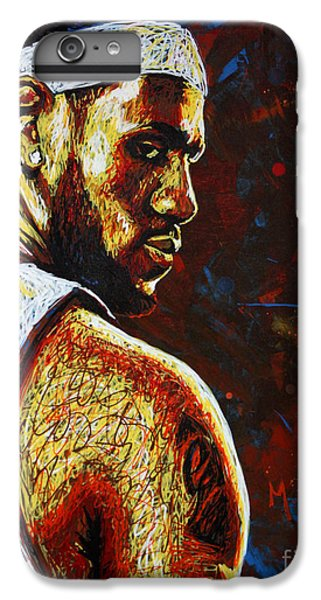 Lebron  IPhone 6 Plus Case by Maria Arango