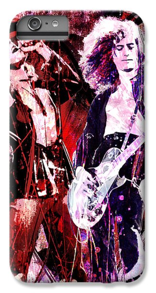 Rock Music Jimmy Page iPhone 6 Plus Case - Led Zeppelin - Jimmy Page And Robert Plant by Ryan Rock Artist