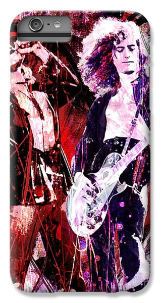 Led Zeppelin - Jimmy Page And Robert Plant IPhone 6 Plus Case by Ryan Rock Artist