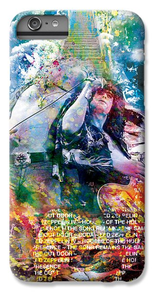 Rock Music Jimmy Page iPhone 6 Plus Case - Led Zeppelin Original Painting Print  by Ryan Rock Artist