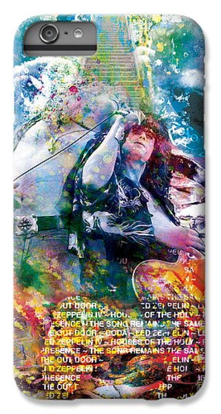 Led Zeppelin Original Painting Print  IPhone 6 Plus Case by Ryan Rock Artist