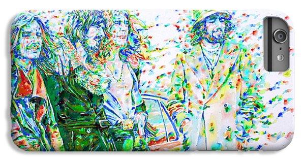 Led Zeppelin - Watercolor Portrait.2 IPhone 6 Plus Case by Fabrizio Cassetta