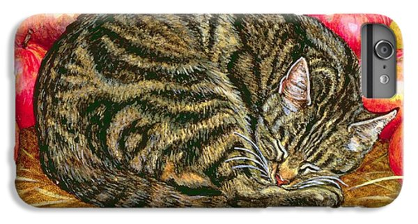 Left Hand Apple Cat IPhone 6 Plus Case by Ditz