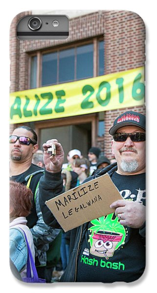 Legalisation Of Marijuana Rally IPhone 6 Plus Case by Jim West