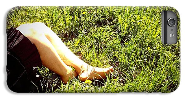 Legs Of A Woman And Green Grass IPhone 6 Plus Case