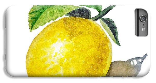 Artz Vitamins The Lemon IPhone 6 Plus Case by Irina Sztukowski