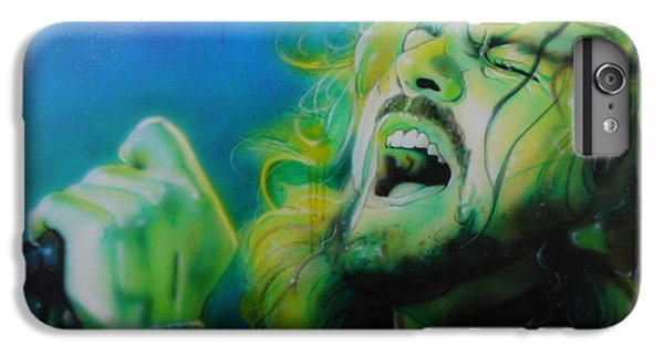 Eddie Vedder - ' Lemon Yellow Sun ' IPhone 6 Plus Case by Christian Chapman Art