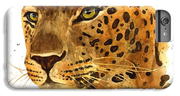 Leopard Gaze IPhone 6 Plus Case by Alison Fennell