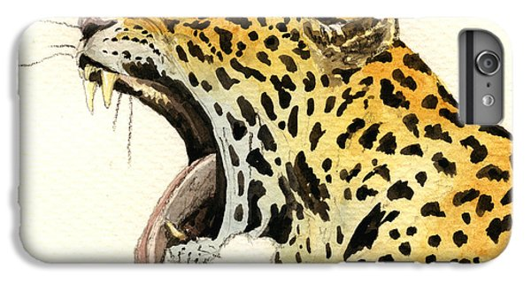 Leopard Head IPhone 6 Plus Case by Juan  Bosco