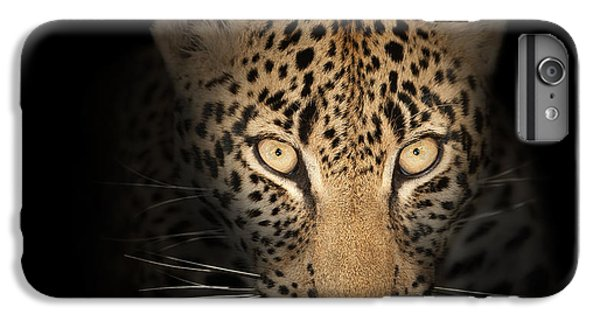 Cats iPhone 6 Plus Case - Leopard In The Dark by Johan Swanepoel
