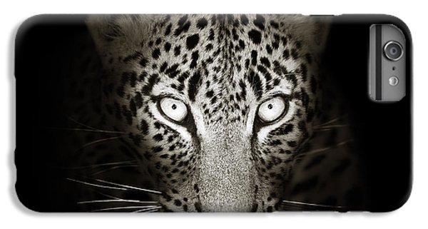 Cats iPhone 6 Plus Case - Leopard Portrait In The Dark by Johan Swanepoel