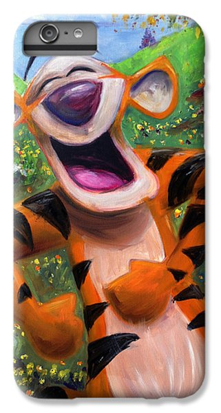 Tiger iPhone 6 Plus Case - Let's You And Me Bounce - Tigger by Andrew Fling