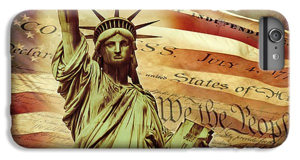 Statue Of Liberty iPhone 6 Plus Case - Declaration Of Independence by Az Jackson