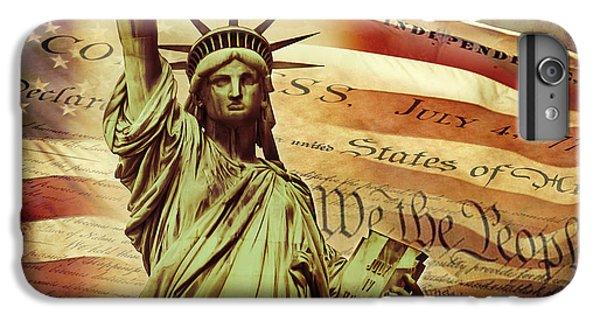 Declaration Of Independence IPhone 6 Plus Case by Az Jackson