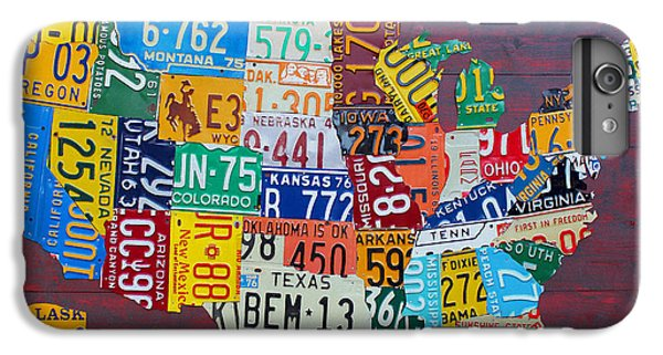 License Plate Map Of The United States IPhone 6 Plus Case