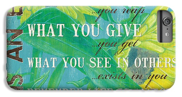 Sunflower iPhone 6 Plus Case - Life Is An Echo by Debbie DeWitt