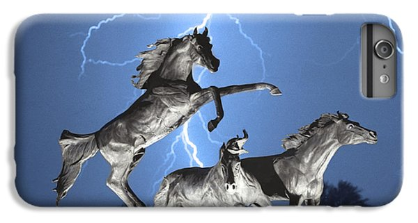 Lightning At Horse World Bw Color Print IPhone 6 Plus Case
