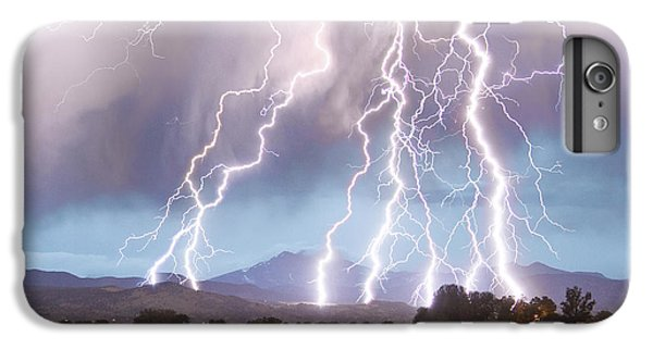 Lightning Striking Longs Peak Foothills 4c IPhone 6 Plus Case by James BO  Insogna