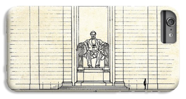 Lincoln Memorial Sketch IPhone 6 Plus Case by Gary Bodnar
