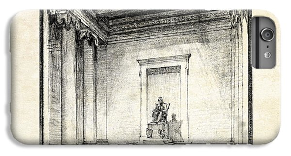 Lincoln Memorial Sketch IIi IPhone 6 Plus Case by Gary Bodnar