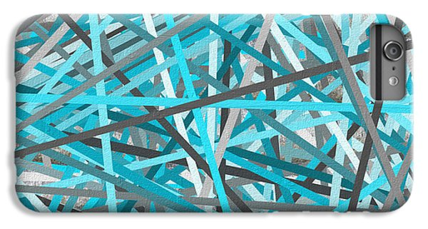 Link - Turquoise And Gray Abstract IPhone 6 Plus Case