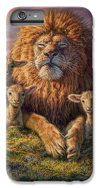 Lion iPhone 6 Plus Case - Lion And Lambs by Phil Jaeger