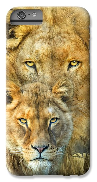 Lion iPhone 6 Plus Case - Lion And Lioness- African Royalty by Carol Cavalaris
