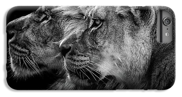 Lion Head iPhone 6 Plus Case - Lion And  Lioness Portrait by Laurent Lothare Dambreville