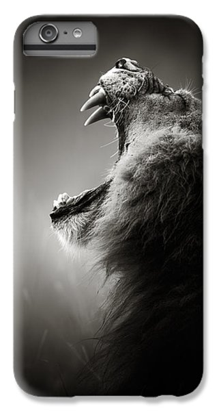 Wildlife iPhone 6 Plus Case - Lion Displaying Dangerous Teeth by Johan Swanepoel
