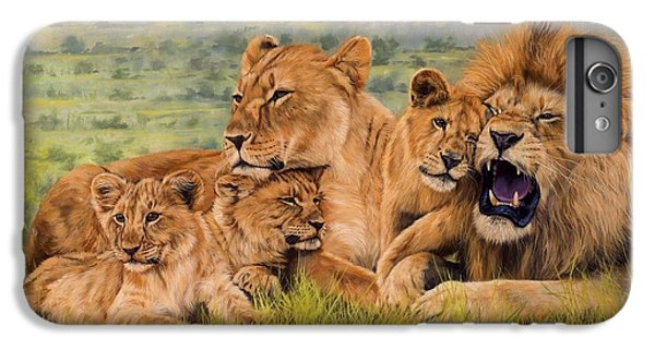 Lion Family IPhone 6 Plus Case by David Stribbling