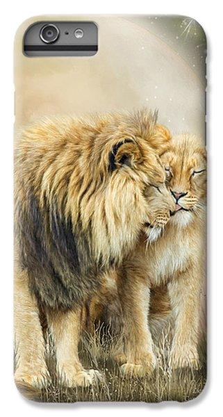 Lion iPhone 6 Plus Case - Lion Kiss by Carol Cavalaris