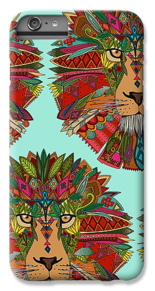 Lion Head iPhone 6 Plus Case - Lion Mint by MGL Meiklejohn Graphics Licensing