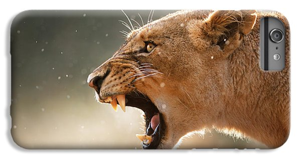 Lioness Displaying Dangerous Teeth In A Rainstorm IPhone 6 Plus Case by Johan Swanepoel