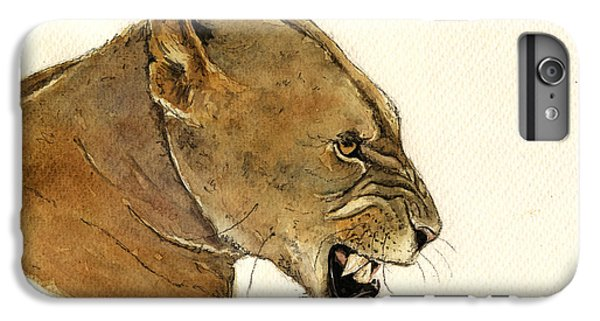 Lion Head iPhone 6 Plus Case - Lioness by Juan  Bosco