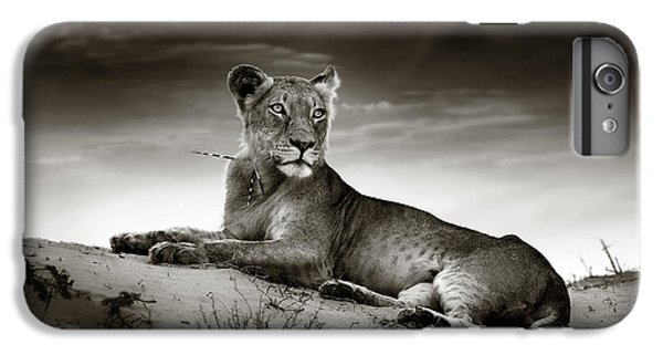 Lion iPhone 6 Plus Case - Lioness On Desert Dune by Johan Swanepoel