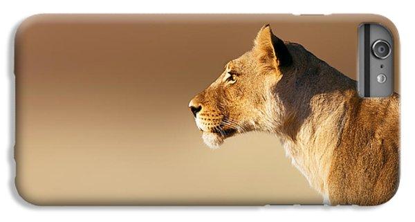 Cats iPhone 6 Plus Case - Lioness Portrait by Johan Swanepoel