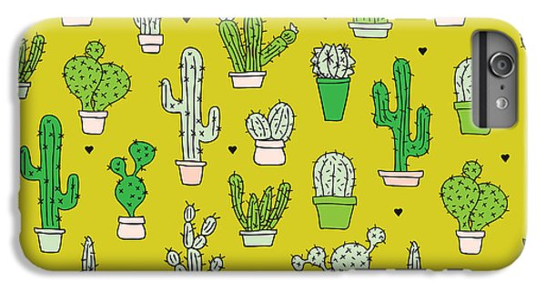 Little Cactus Botanical Garden IPhone 6 Plus Case by Maaike Boot