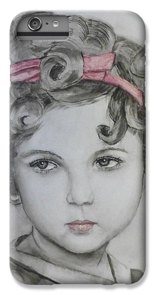 Little Shirley Temple IPhone 6 Plus Case by Kelly Mills